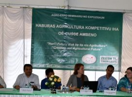Role of ICSFRI in a seminar during AGRO-EXPO Week 2017 at OE-CUSSE AMBENO, Timor Leste