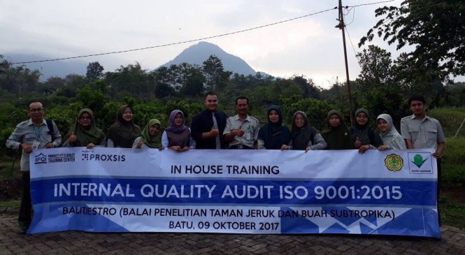 In House Training Internal Quality Audit 9001:2015